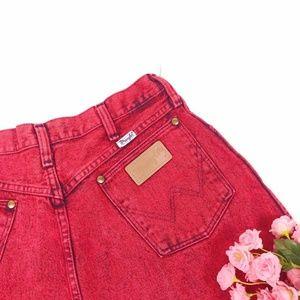 Vintage Wrangler Marble Red Jeans